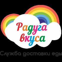 логотип доставки радуга вкуса