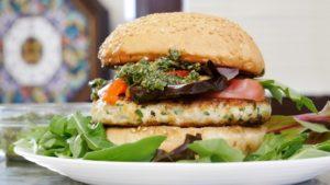 рецепт женский бургер и соус песто в домашних условиях