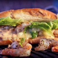 Луизианский шрим сэндвич с сыром бри
