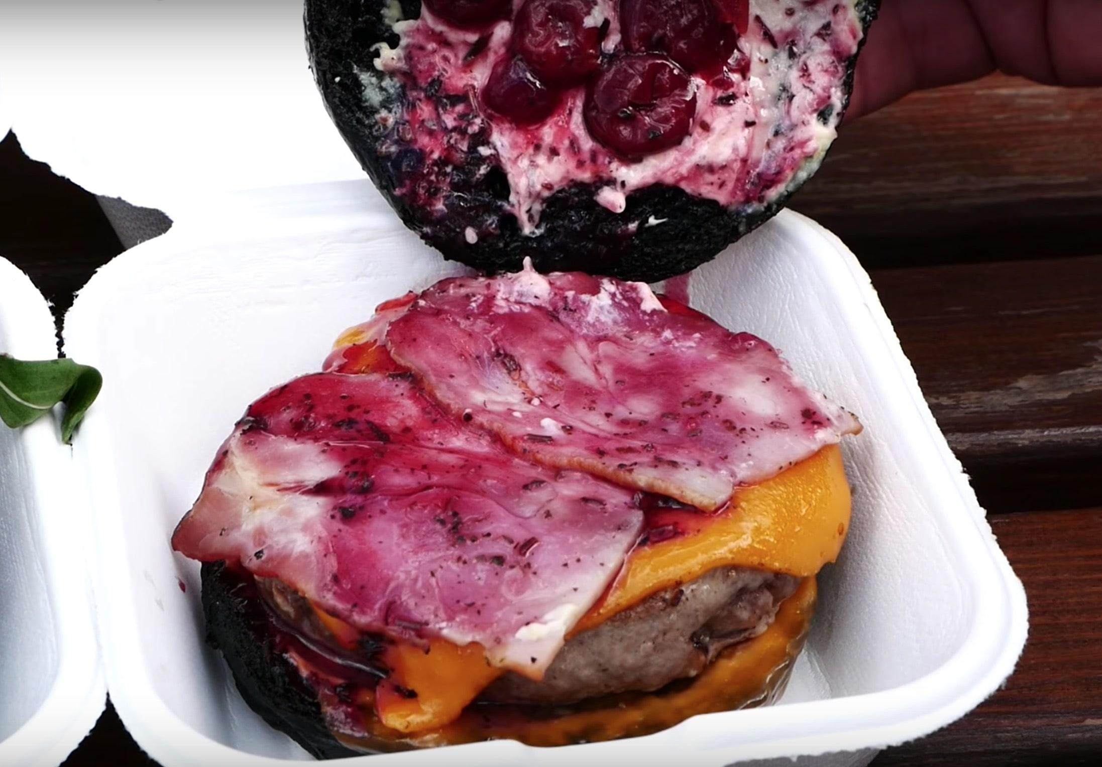 бургер черная мамба в разрезе в burger heroes
