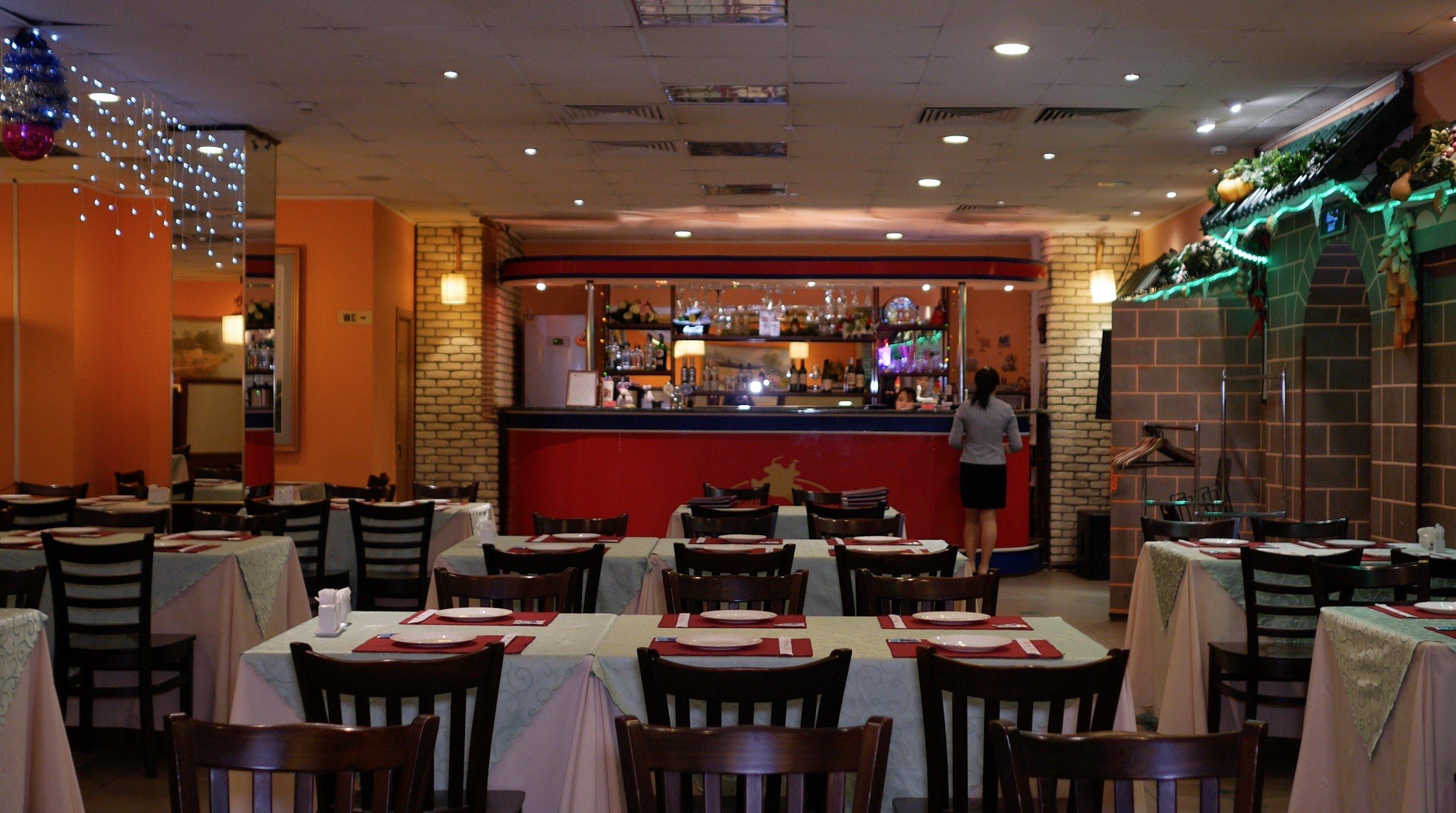 интерьер в ресторане Корё