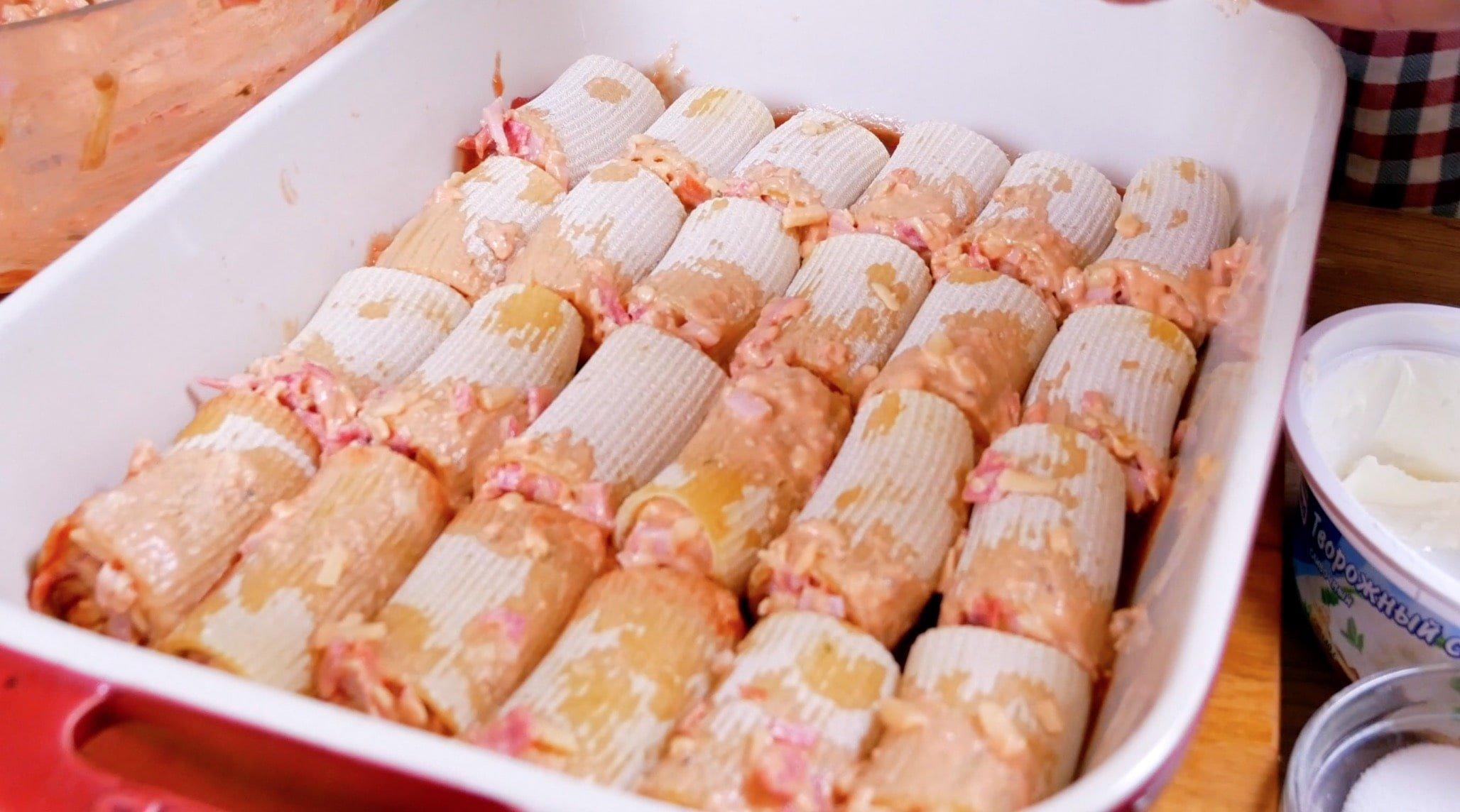 Канеллони-пицца И складываем наши макароны в форму для запекания