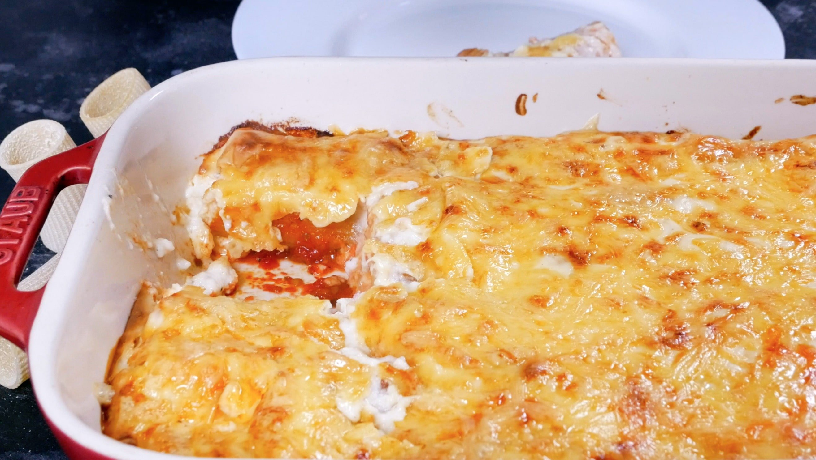 Канеллони-пицца блюдо готово