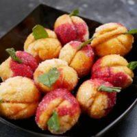 Пирожное персики из детства. Мамина тетрадка