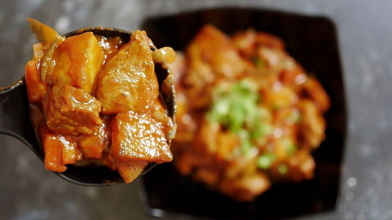 Рецепт азу по-татарски с солеными огурчиками