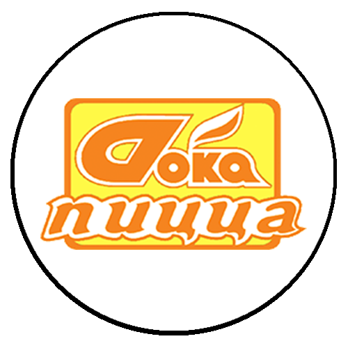 дока пицца круглый лого