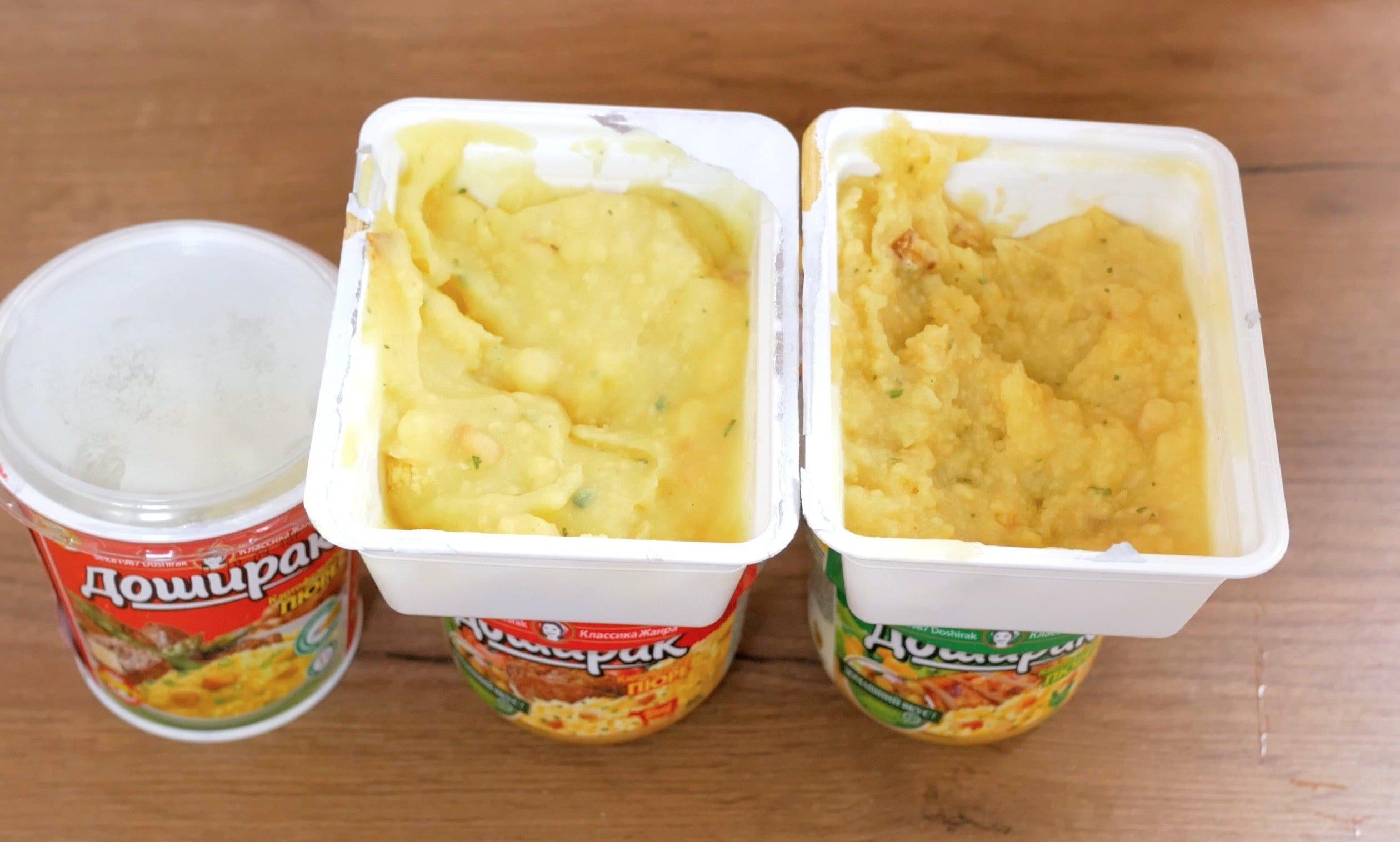 Картофельное пюре со вкусом тушенки