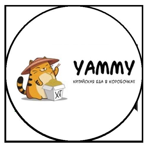 логотип доставки китайской кухни yammy