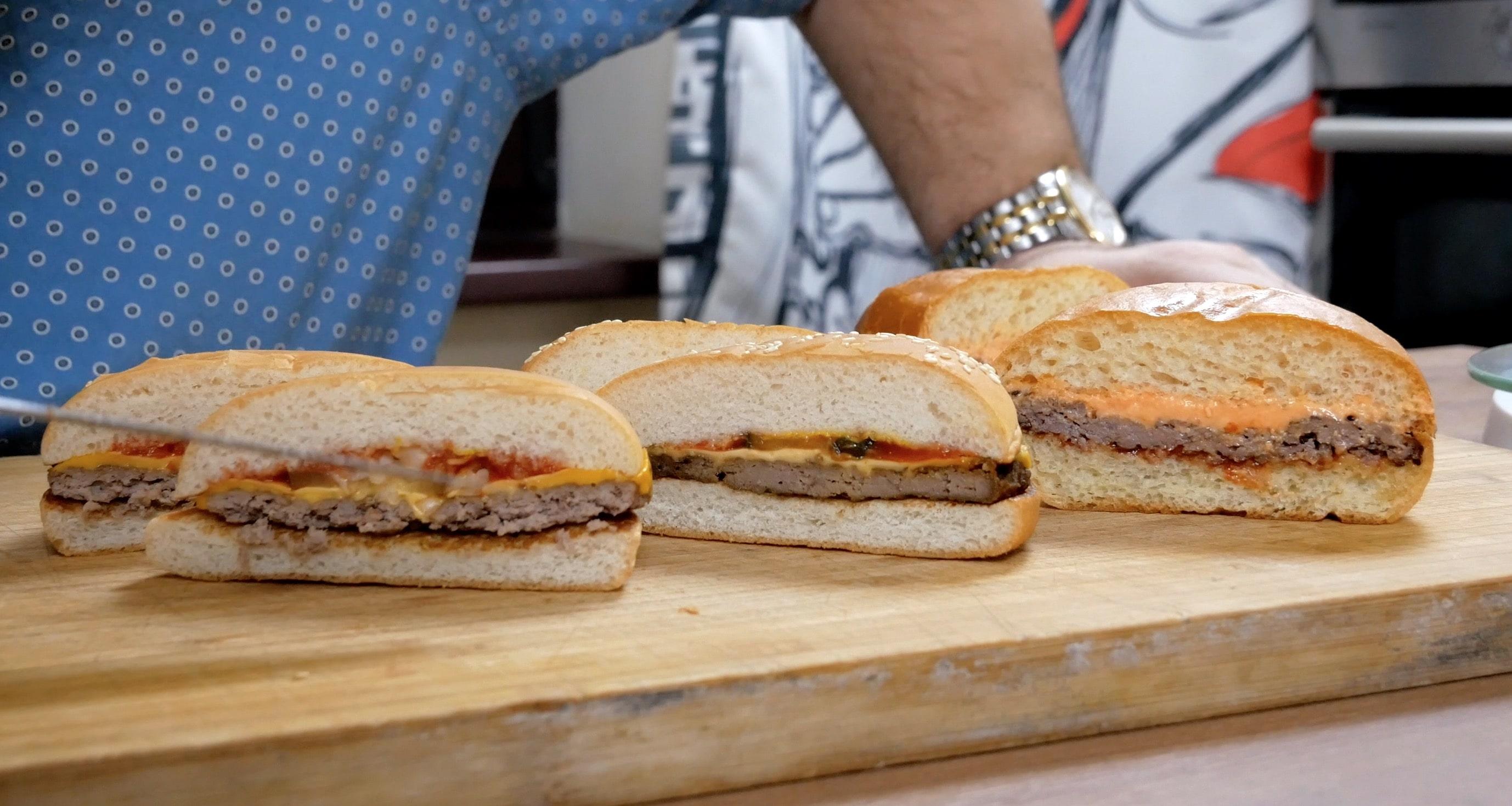 чизбургеры в разрезе