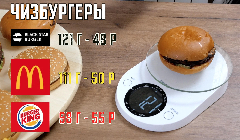 вес чизбургеров