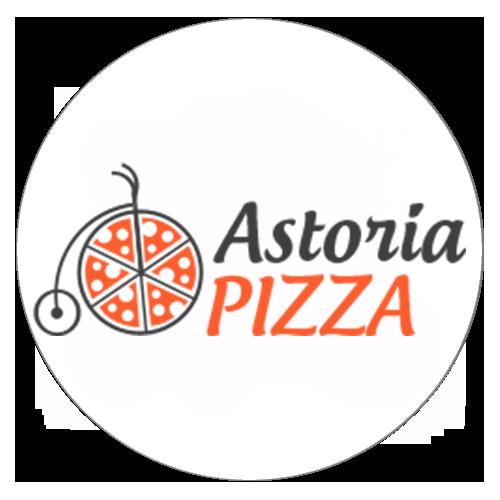 круглый логотип astoria pizza