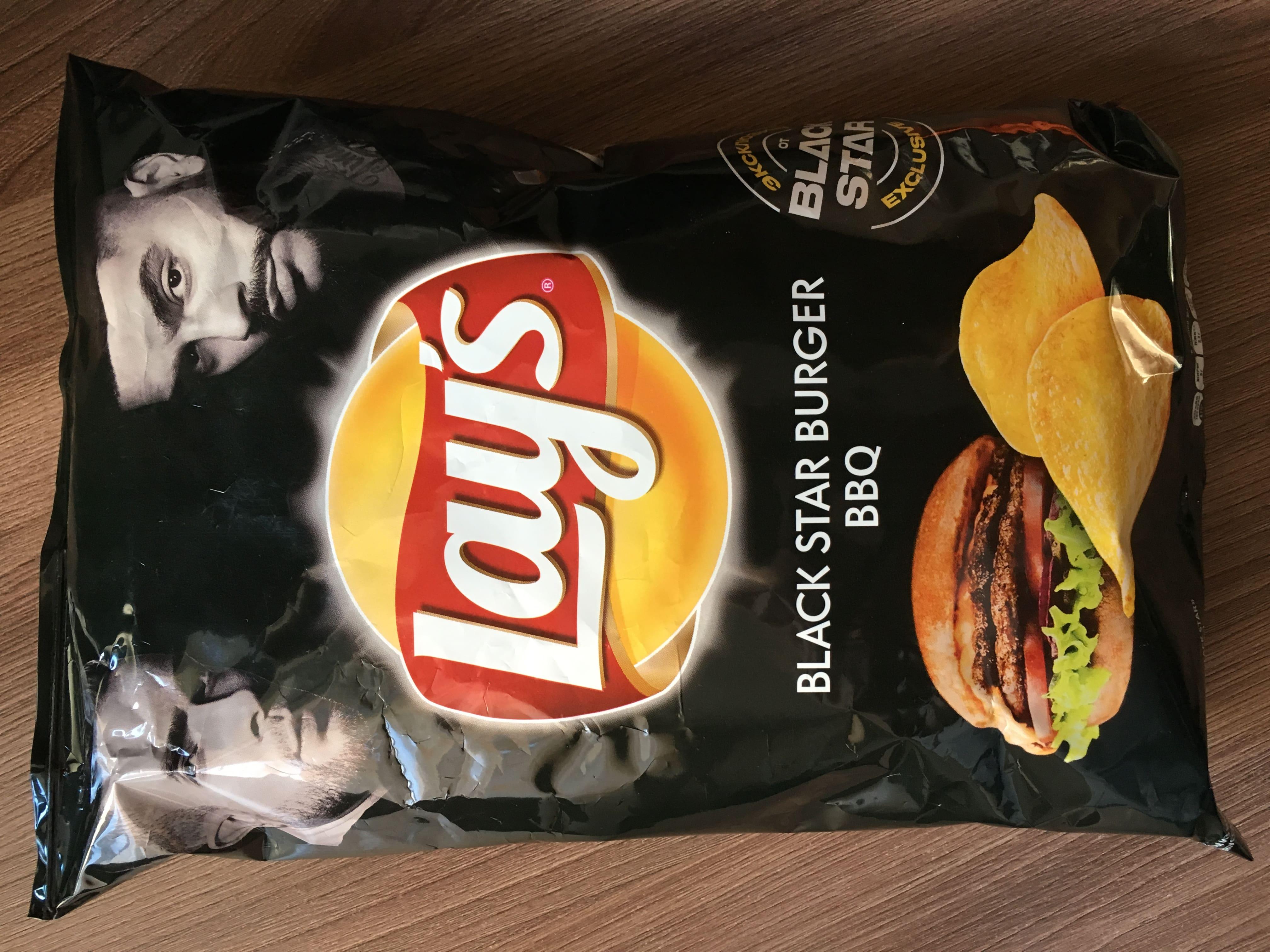 Lays Black Star со вкусом Burger BBQ