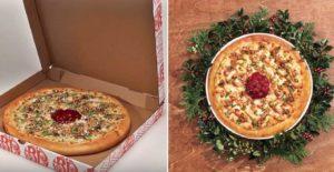 """Коробка от пиццы """"поёт"""" колядки при доставке. Акция от Boston Pizza"""