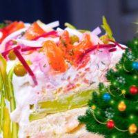 Смёргосторта на новогодний стол. Закусочный торт Новогодние рецепты